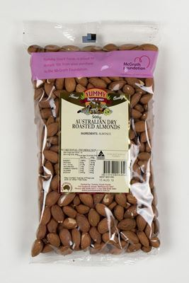 Picture of YUMMY AUS DRY ROASTED ALMONDS 500G