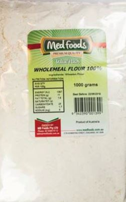 Picture of  MED FOODS WHOLEMEAL FLOUR 1KG