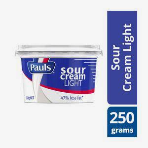 Picture of PAULS LIGHT SOUR CREAM 250G