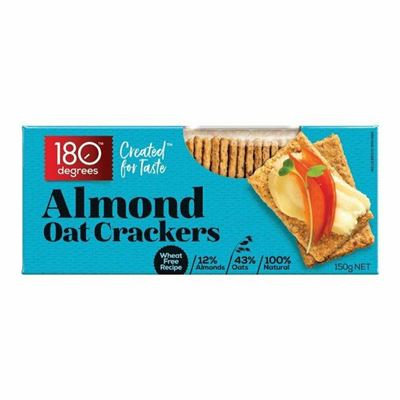 Picture of 180 DEGREES OAT CRACKERS ALMOND 150G