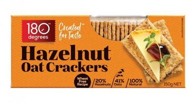 Picture of 180 DEGREES OAT CRACKERS HAZELNUT 150G