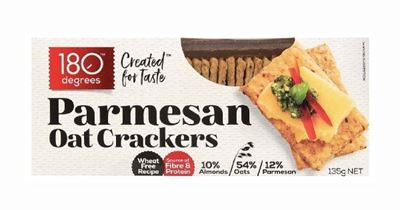 Picture of 180 DEGREES OAT CRACKERS PARMESAN 135G