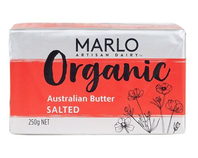 Picture of MARLO ORGANIC SALTED AUSTRALIAN BUTTER 250G