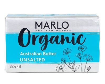Picture of MARLO ORGANIC UNSALTED AUSTRALIAN BUTTER 250G